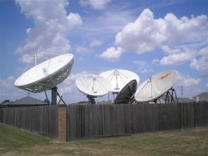Teleport Facility Large Satellite Earth Station Dish Removal