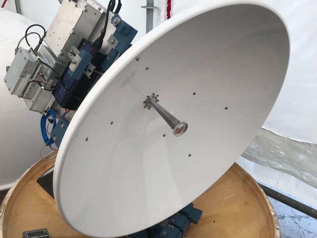 SeaTel 4006 1M Ku-Band Maritime Antenna with a SeaTel 4004 TV