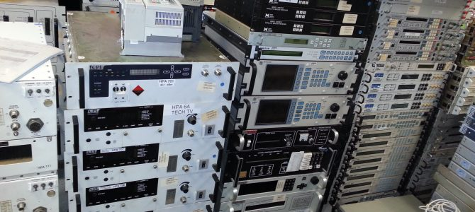 Used Satellite Equipment in stock for sale.