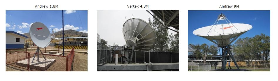 Andrew 1.8M VSAT Antenna, Vertex 4.8M Ku-Band Earth Station Antenna,  Used Andrew 9M Ku-Band Motorized Earth Station Antenna,   Spectrum Analyzer, Splitter/Combiners, Power Supplies, Waveguide Satellite RF Enginner Installation Bandwidth